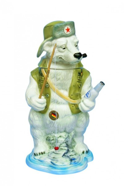 Ice / Polar Bear Fishing Beer stein