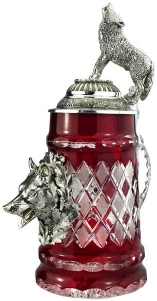 Lord of Crystal Wolf Collector Beer stein