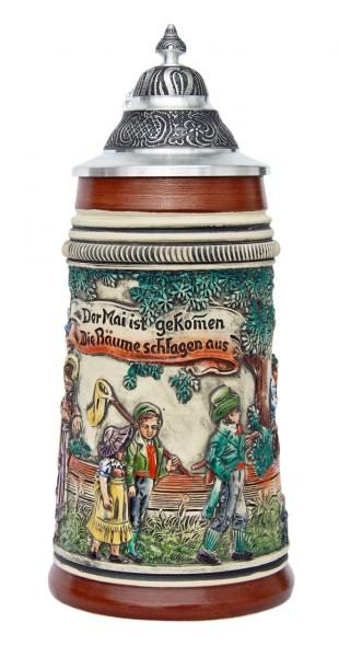 May Celebration beer stein antik painted