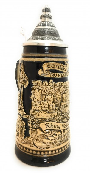 Contiki Europe #noregrets 250ml black painted beer stein