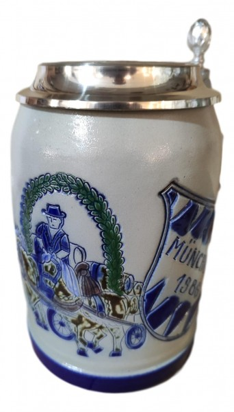 Oktoberfest 1986 salt glazed 0,5 liter beer stein