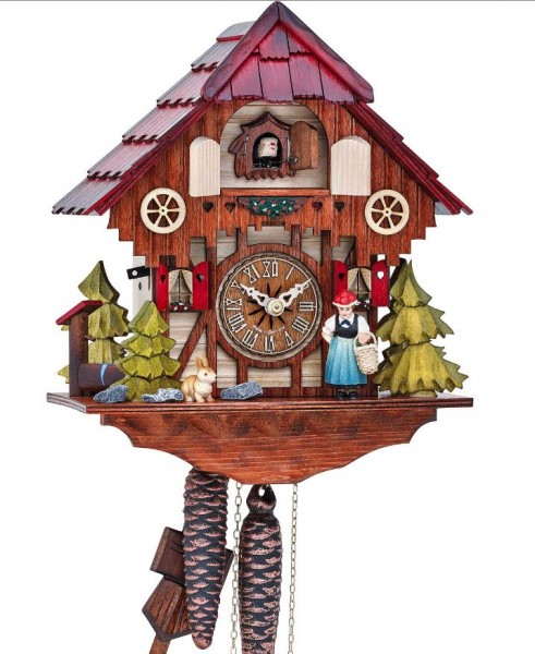 Black Forest Girl House cuckoo clock 1639