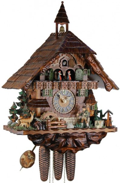 Eight Day Cuckoo Clock Black forest house86740T