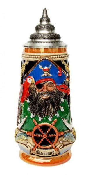 Pirat Blackbeard Beer Stein 0,5L Ye 0720189258138 - Bild 1