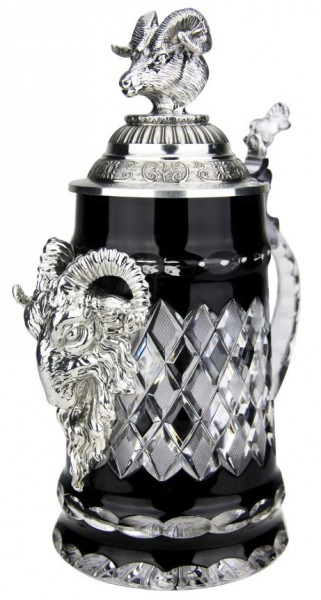 Lord of Crystal Ram Beer Stein Black