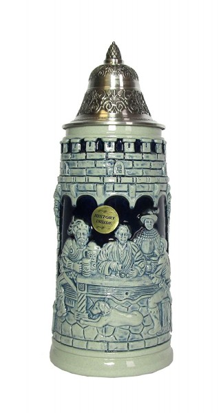Dicegame beer stein blue painted 0,5 liter