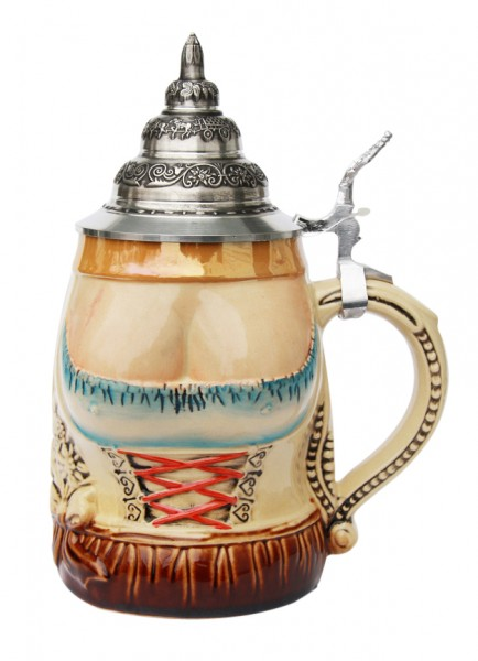 Lederhosen and Dirndl beer stein