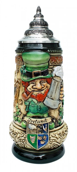 Ireland beer stein antik painted
