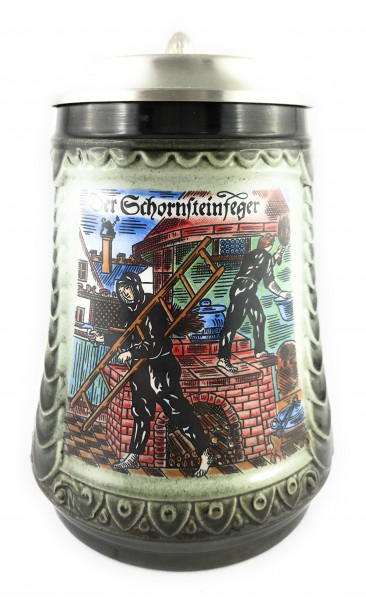 Chimney sweeper beer stein 0,5 liter